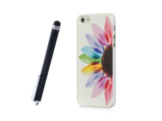 Apple iPhone 5 Crystal Hard Plastic Case (Sunrise Print) + Free Stylus Pen