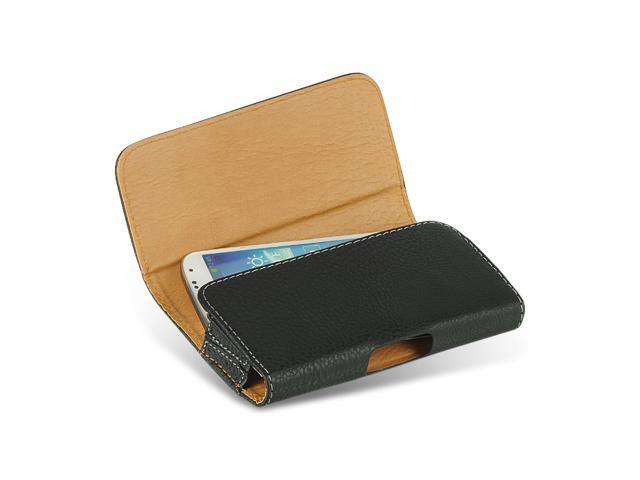 Samsung Galaxy S III Horizontal Pebbled Leather Pouch Case (Black)