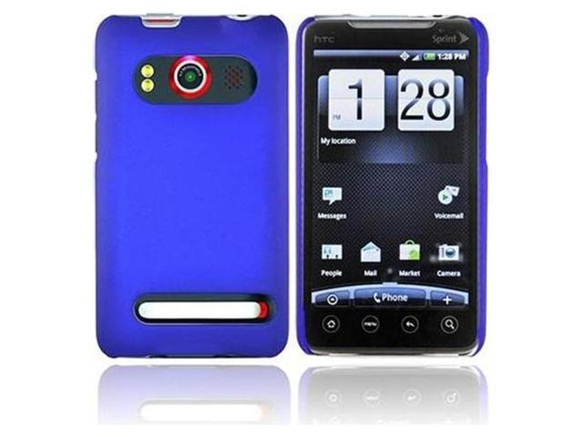 Fosmon Snap On Rubberized Hard Protector Case Cover for HTC EVO 4G (Blue)