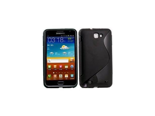 Fosmon S-Curve Soft Shell TPU Case for Samsung GALAXY Note GT-N7000 / SGH-I717