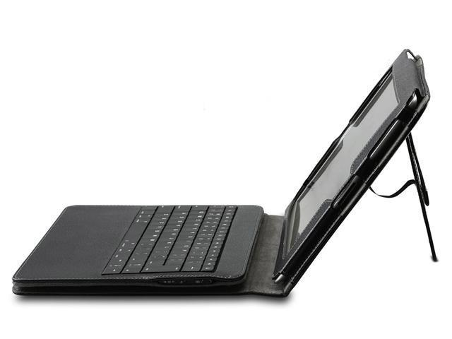 GreatShield Detachable Wireless Bluetooth Keyboard Leather Case for The New iPad (3rd Generation) with Stand (Black)