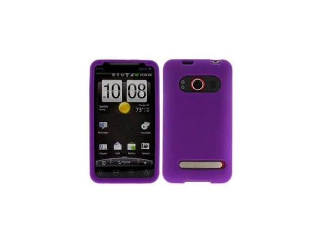 Fosmon Soft Silicone Case fits HTC EVO 4G - Purple