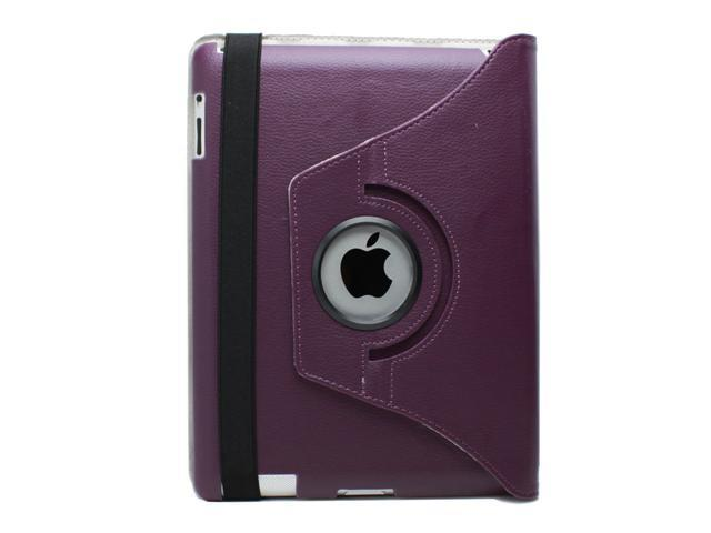 Fosmon 360 Degree Revolving PU Leather Case With Multi Angle Stand for Apple New iPad 3 - (w/Magnetic Sleep Function)