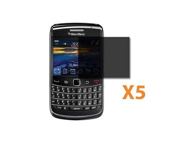 5 X Privacy Screen Protector for Blackberry Bold 9700