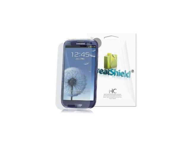 GreatShield Ultra Smooth Clear Screen Protector Film for Samsung Galaxy S3 S III i9300 (3 Pack) - Lifetime Warranty