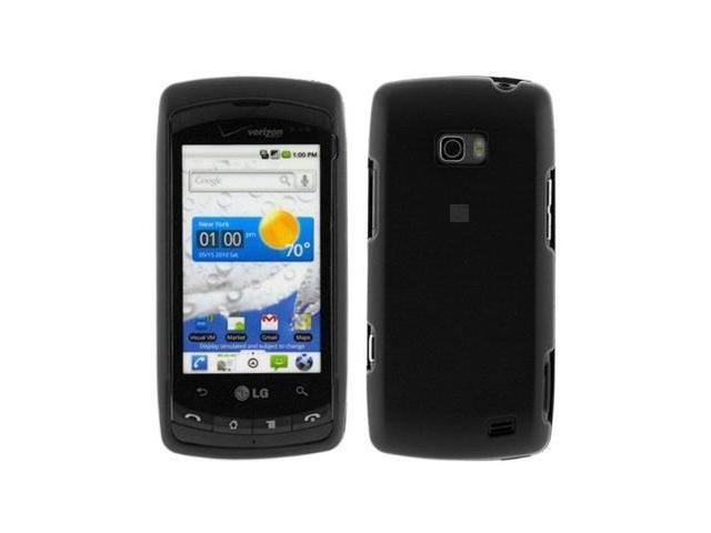 Fosmon Rubberized Protective Case fits LG Ally VS740- Black