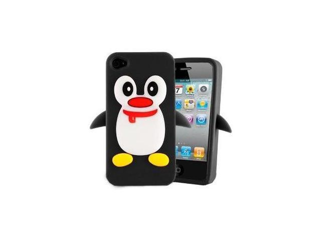Fosmon Penguin Design Silicone Case for Apple iPhone 4 / 4S