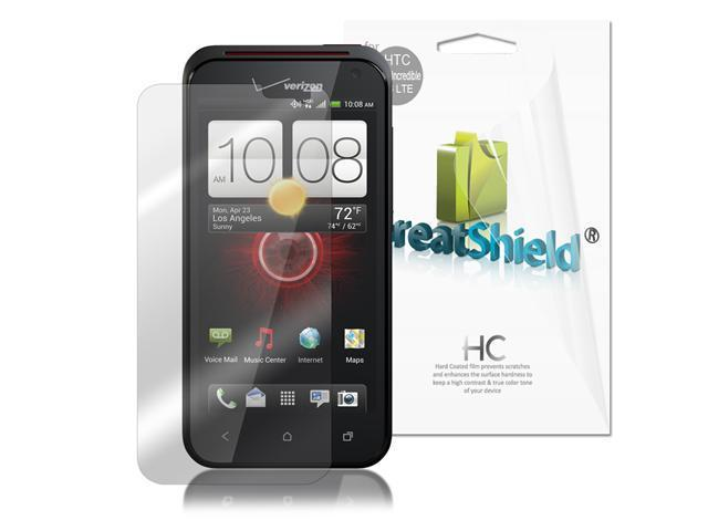 GreatShield Ultra Smooth Clear Screen Protector Film for HTC DROID Incredible 4G LTE (3 Pack)