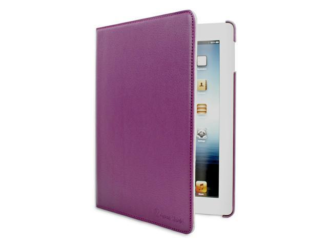 GreatShield Vogue Series 360 Degrees Rotating Leather Case / Folio with built-in Stand for The New iPad 3 (3rd Generation) 2012 Model Tablet