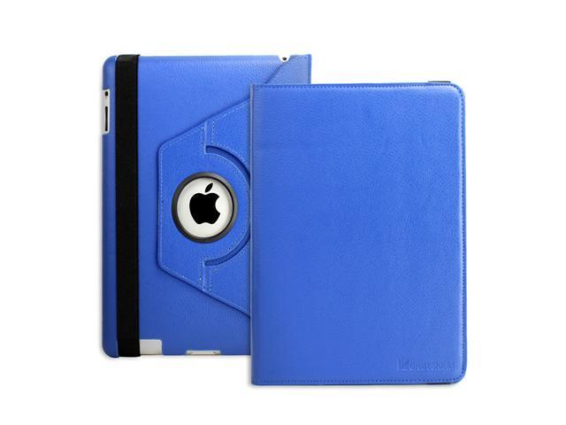 GreatShield Vogue Series 360 Degrees Rotating Leather Case / Folio with built-in Stand for The New iPad 3 (3rd Generation) ...