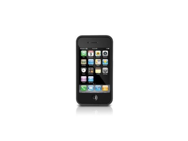 iLuv Boxy Silicone trim Edge Cover with Dual Films for iPhone 4 (Black)