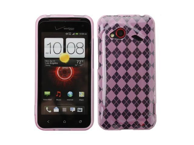 Fosmon Flexible Checker Design TPU Gel Case for the HTC Incredible 4G LTE
