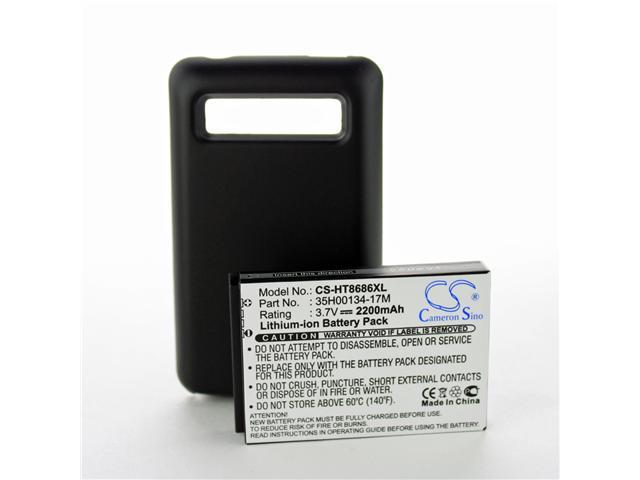 Fosmon 2200mAh Extended Lithium-ion Battery w/ Cover for HTC 7 Trophy T8686