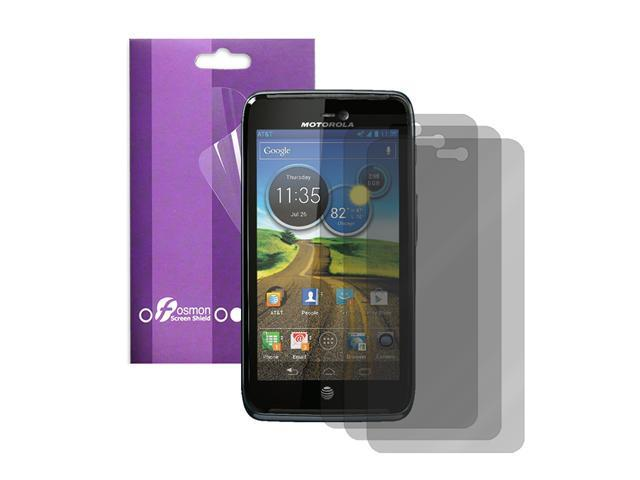 Fosmon 3 Pack Screen Protector for Motorola Atrix 3 HD LTE MB886 Dinara - Clear