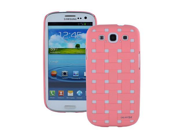 Fosmon Rubberized Checkered Weave Design Hard Protector Case Cover for Samsung Galaxy S3 / SIII i9300