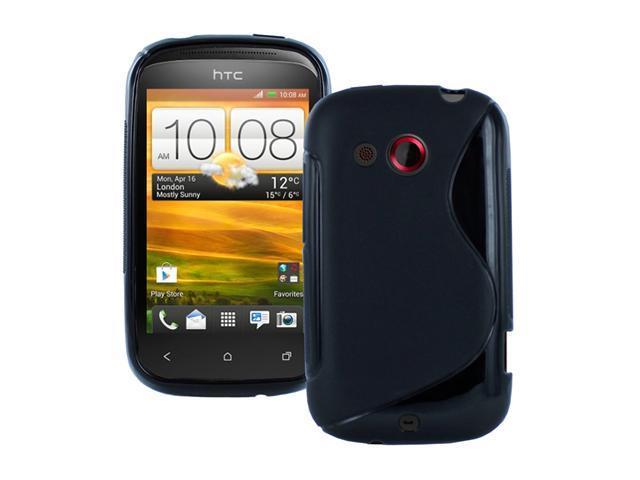 Fosmon S-Shape Flexible TPU Gel Case for HTC Desire C / Wildfire C / Golf