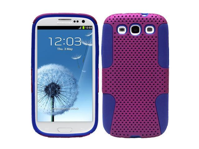 Fosmon Hybrid Mesh Protector Case Cover for Samsung Galaxy S III S3