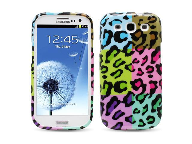 Buy Fosmon Camera Chargers - Fosmon Colorful Leopard Design Hard Case Cover for Samsung Galaxy S3