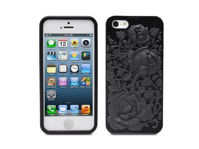Fosmon DURA Series TPU Case for Apple iPhone 5 / 5S - 3D Rose