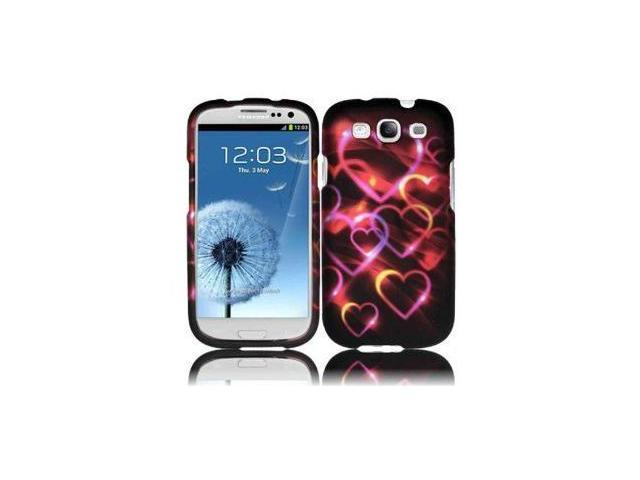 Fosmon Crystal Design Case for Samsung Galaxy S III i9300 / ATT SGH-i747 / Verizon SGH-i535 / T-mobile SGH-T999 / Sprint SPH-L710 - Colorful Hearts