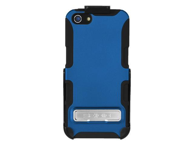 Seidio Active Case Cover & Holster Combo w/ Kickstand for Apple iPhone 5 - Blue
