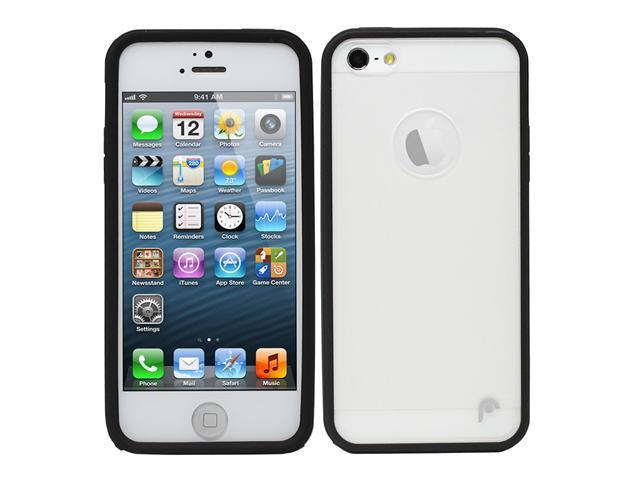Fosmon HYBO Series Hybrid PC + TPU Case for Apple iPhone 5 / 5S - Black / Clear