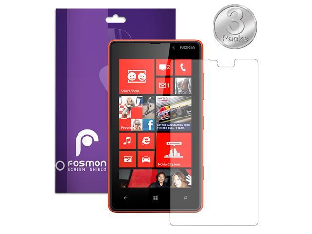 Fosmon Anti-Glare (Matte) Screen Protector Shield for Nokia Lumia 820 - 3 Pack