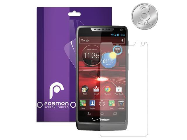 Fosmon Anti-Glare (Matte) Screen Protector Shield for Motorola DROID RAZR M 4G LTE / XT907 - 3 Pack