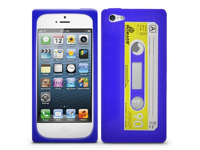 Fosmon JEL Series Silicone Cassette Case for Apple iPhone 5 / 5S - Blue / Yellow