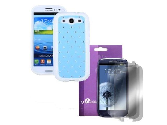 Fosmon Star Diamond TPU Case 4 in 1 Bundle for Samsung Galaxy S3 S III