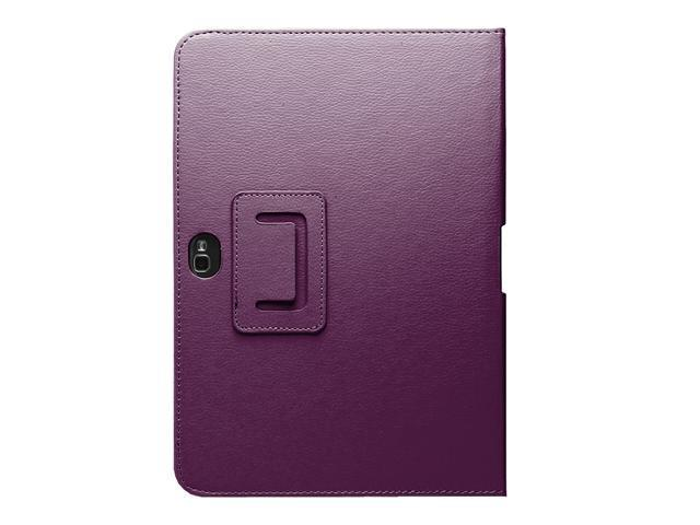 Fosmon Slim Fit Leather Folio Case with Stand for Samsung Galaxy Note 10.1 Tablet - Purple