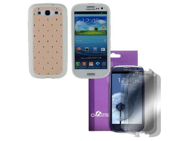 Fosmon Star Diamond TPU Case 4 in 1 Bundle for Samsung Galaxy S3 S III