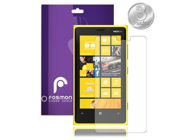 Fosmon Anti-Glare (Matte) Screen Protector Shield for Nokia Lumia 920 - 3 Pack