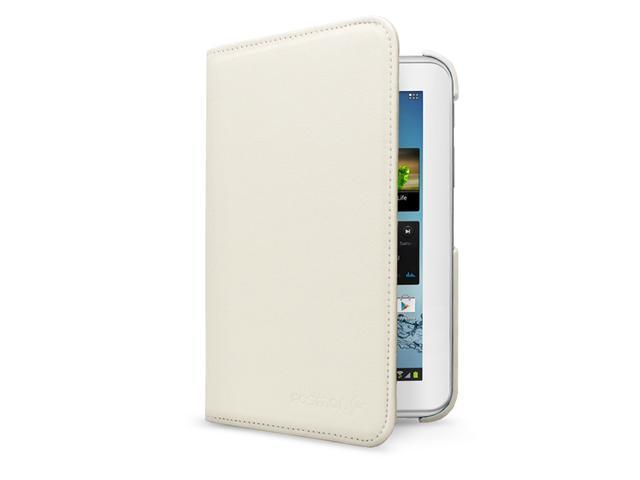 Fosmon GYRE Series Revolving Leather Case for Samsung Galaxy Tab 2 7.0 / P3100 - White