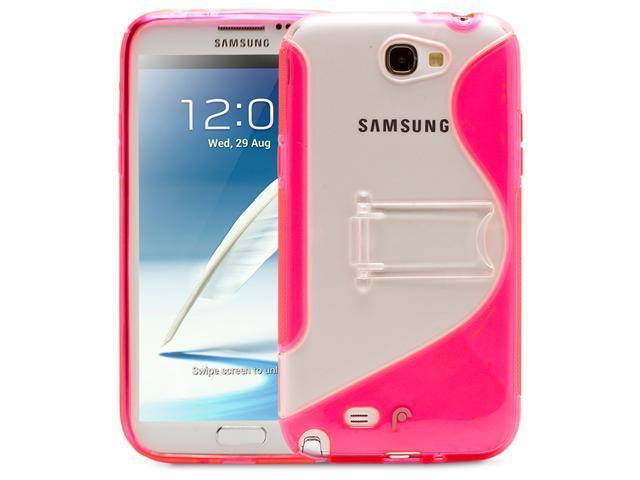Fosmon HYBO-SK Series PC + TPU Hybrid Kickstand Case for Samsung Galaxy Note 2 II / N7100 - Pink