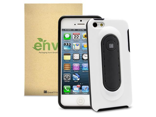 GreatShield Guardian Series Snap Stand Case for Apple iPhone 5/5S (Black & White)