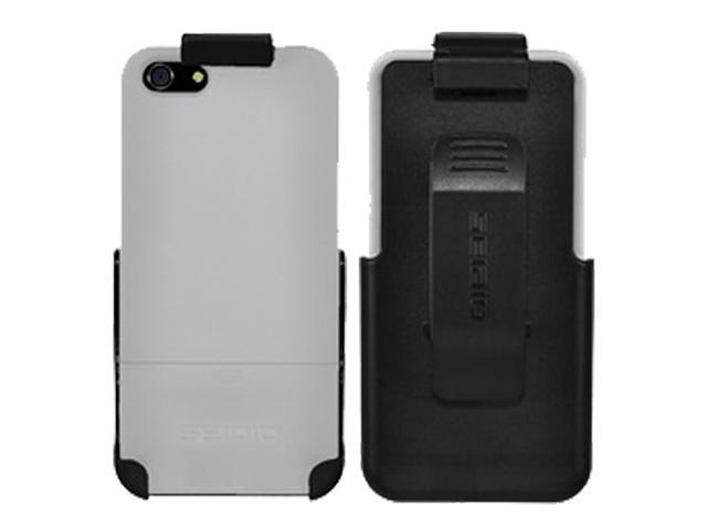Seidio SURFACE Case and Holster Combo for iPhone 5S / 5 - Glossed White (Retail Packaging)