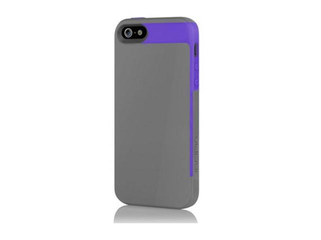 Incipio Faxion Case for iPhone 5 - Charcoal Gray / Royal - Purple