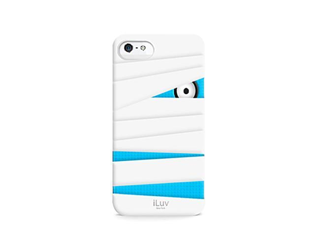 iLuv Mummy & Ninja Series Silicone Case for Apple iPhone 5 (Mummy) (White/Blue)