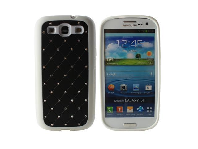 Fosmon Star Diamond TPU Case for Samsung Galaxy S3 / SIII i9300 - Black / White