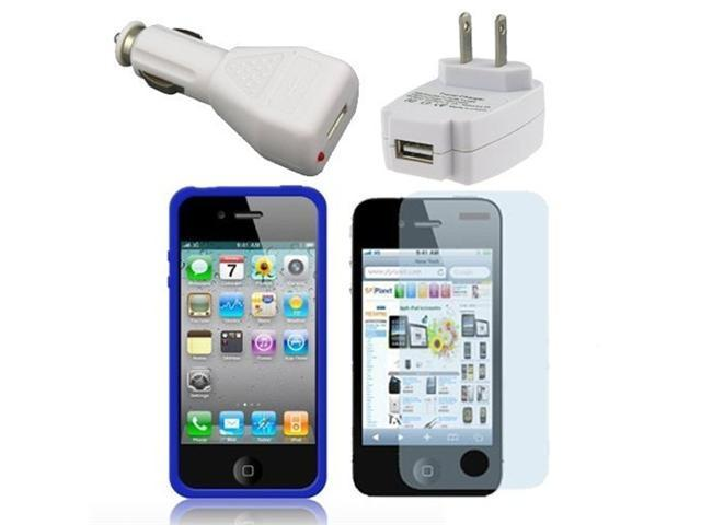 Fosmon Bumper Band Case 6 in 1 Bundle for Apple iPhone 4 / 4S