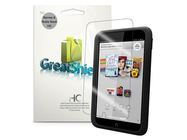 GreatShield 3 Pack Ultra Clear Screen Protector Guard for Barnes & Noble Nook HD