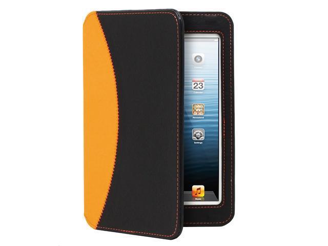 GreatShield LEAN Series Ultra-Thin Keyboard Case for Apple iPad Mini (Black / Orange)
