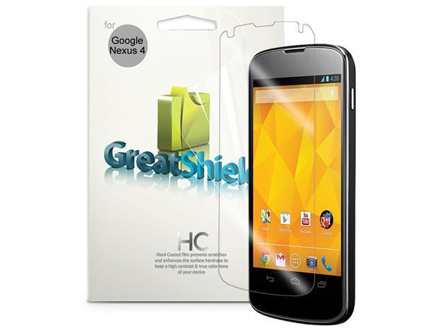 GreatShield Ultra Smooth Clear Screen Protector Film for LG / Google Nexus 4 With (Lifetime Warranty) - 3 Pack