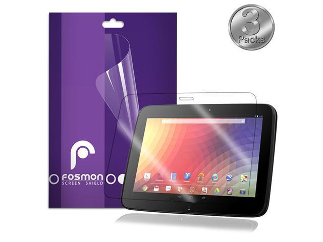 Fosmon Screen Protector for Samsung / Google Nexus 10 (Crystal-Clear) (3pk)