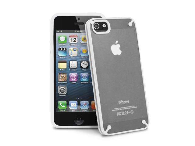 GreatShield RADIANT Series Slim Case for iPhone 5/5S - Transparent/White