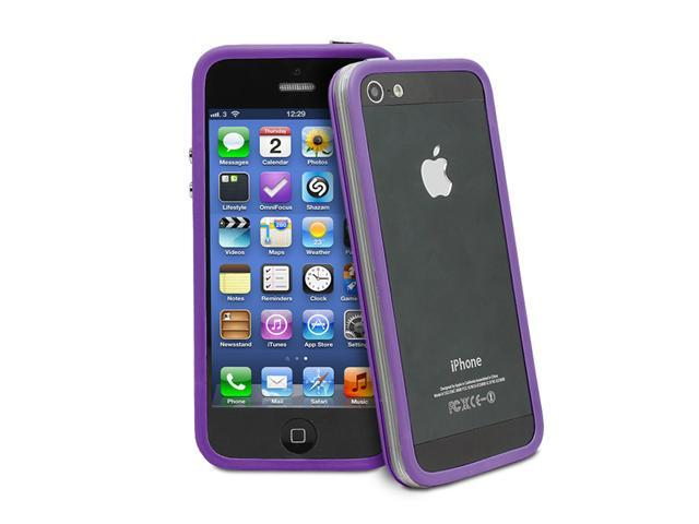 GreatShield AEGIS Series PC + TPU Ultra Slim Bumper Case for Apple iPhone 5/5S - Clear Purple