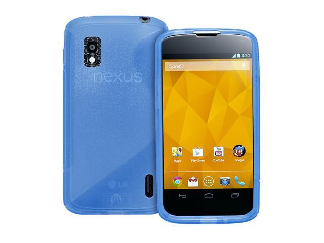 Fosmon DURA S Series TPU Case Cover Skin for Google Nexus 4 / LG Nexus 4 - Blue
