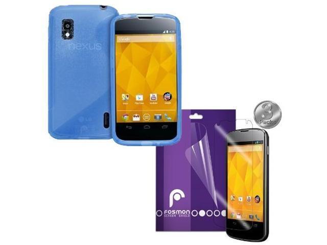 Fosmon 4 in 1 Bundle for Google Nexus 4 / LG Nexus 4