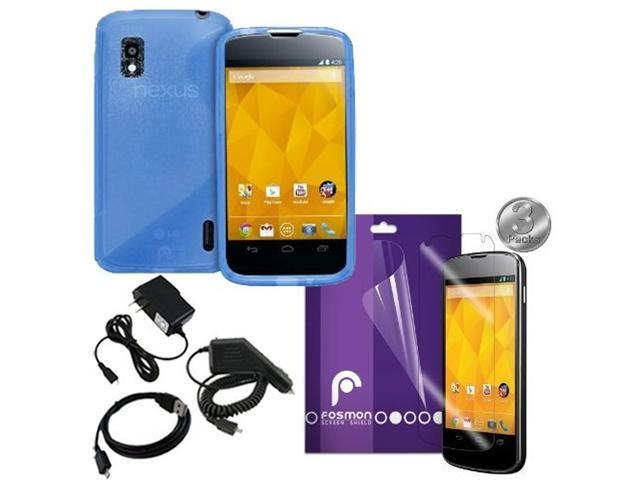 Fosmon 7 in 1 Bundle for Google Nexus 4 / LG Nexus 4